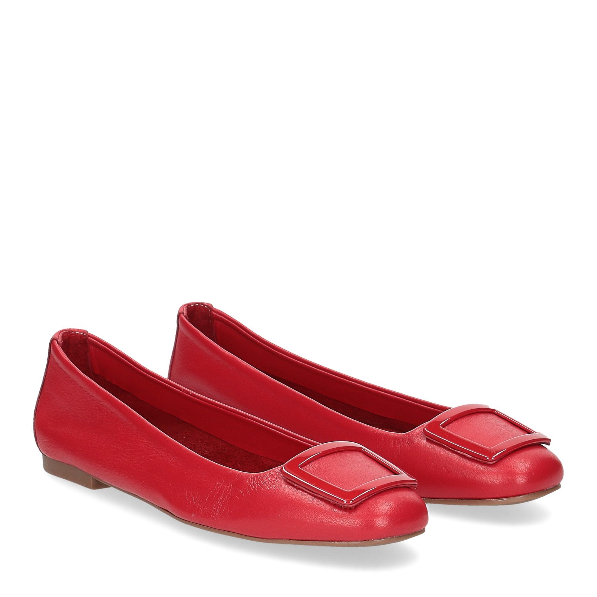 Il Laccio ballerina 18107 fibbia pelle rossa