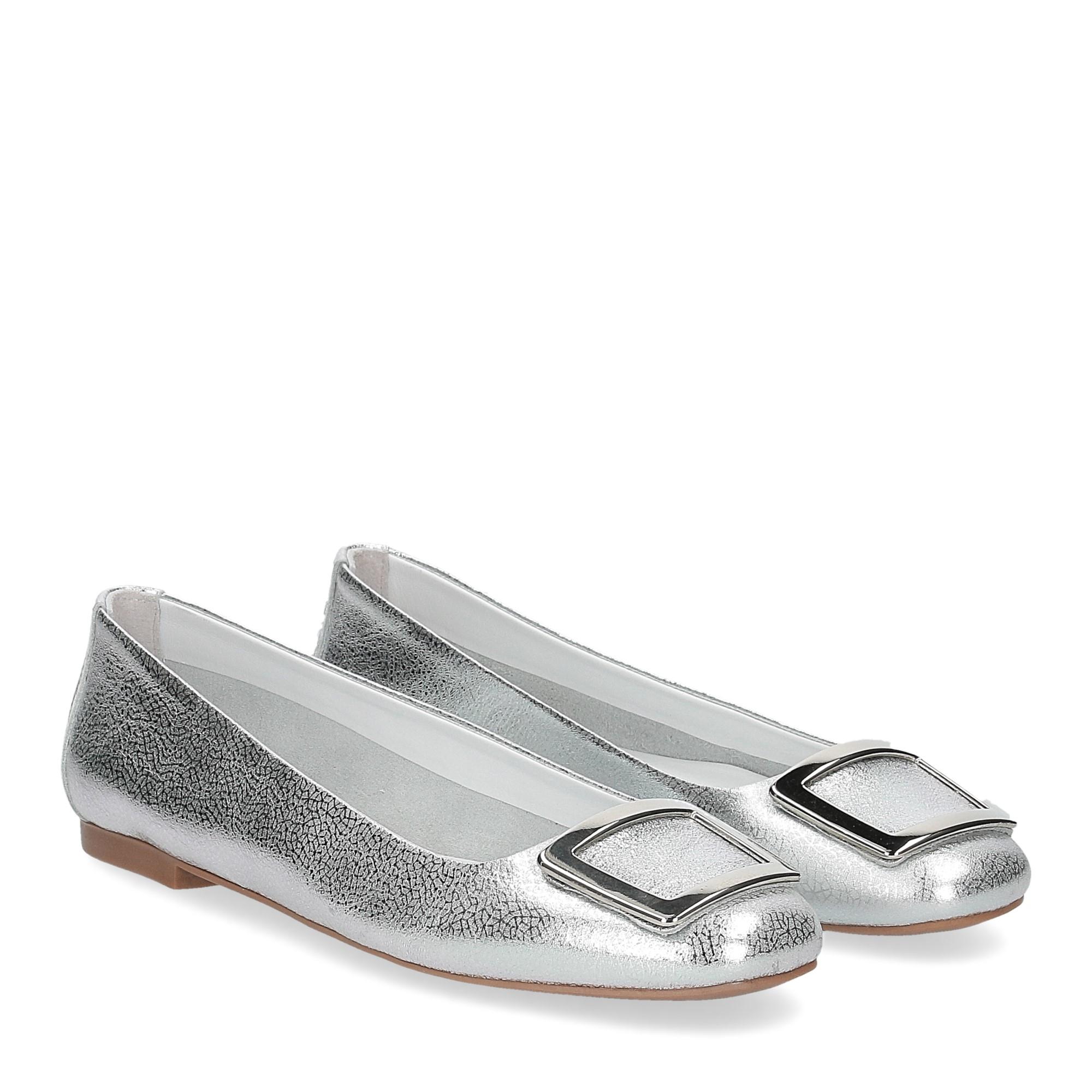 Il Laccio ballerina 18107 fibbia pelle argento