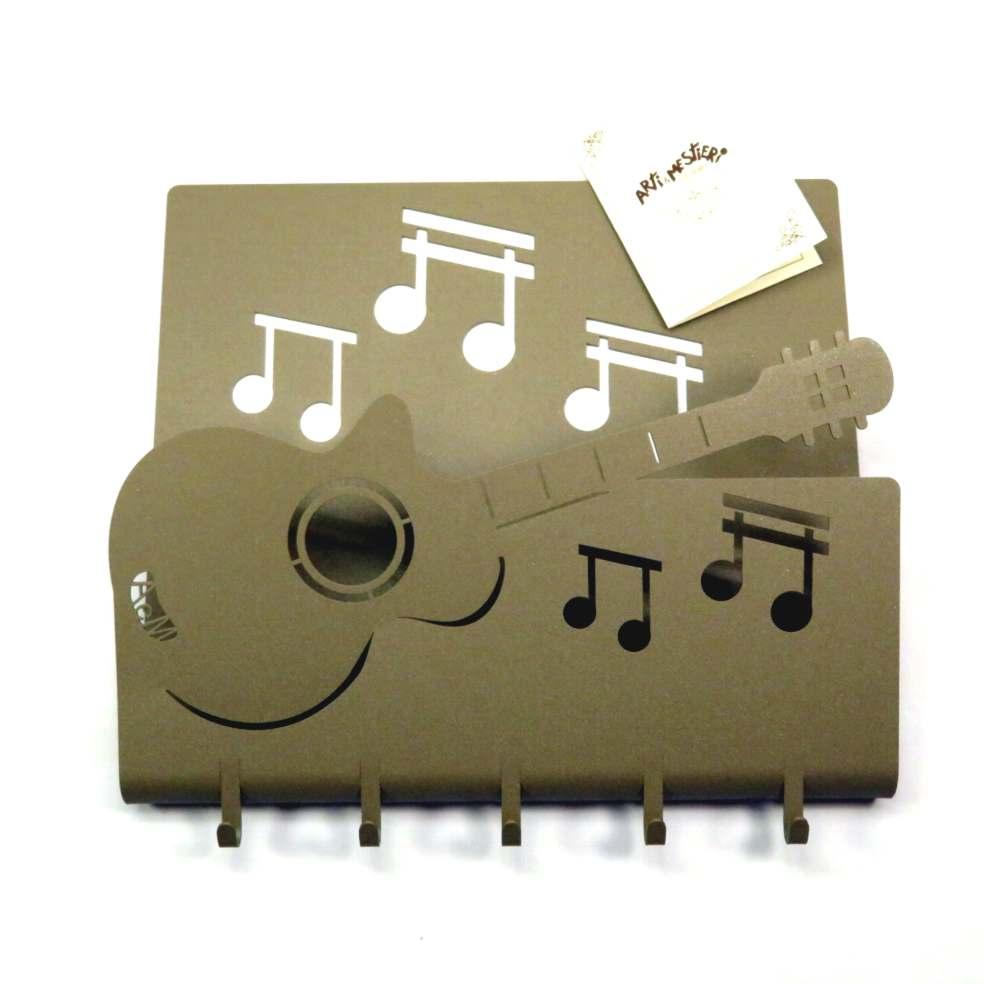 Appendi chiavi chitarra musicale in metallo