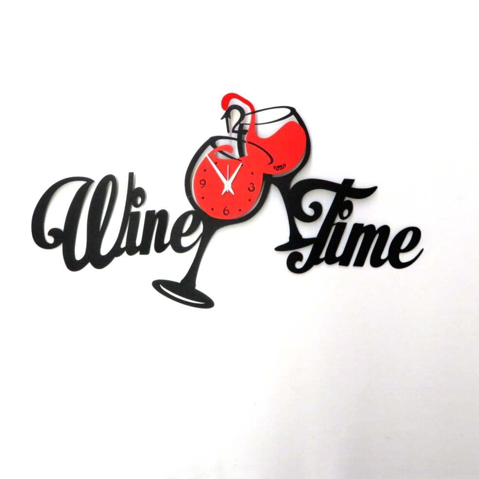 Orologio Wine Time nero e rosso