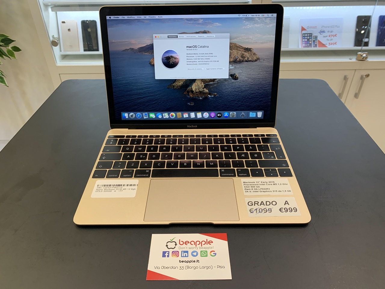 Apple MacBook 2016 - intel® M3 - 12