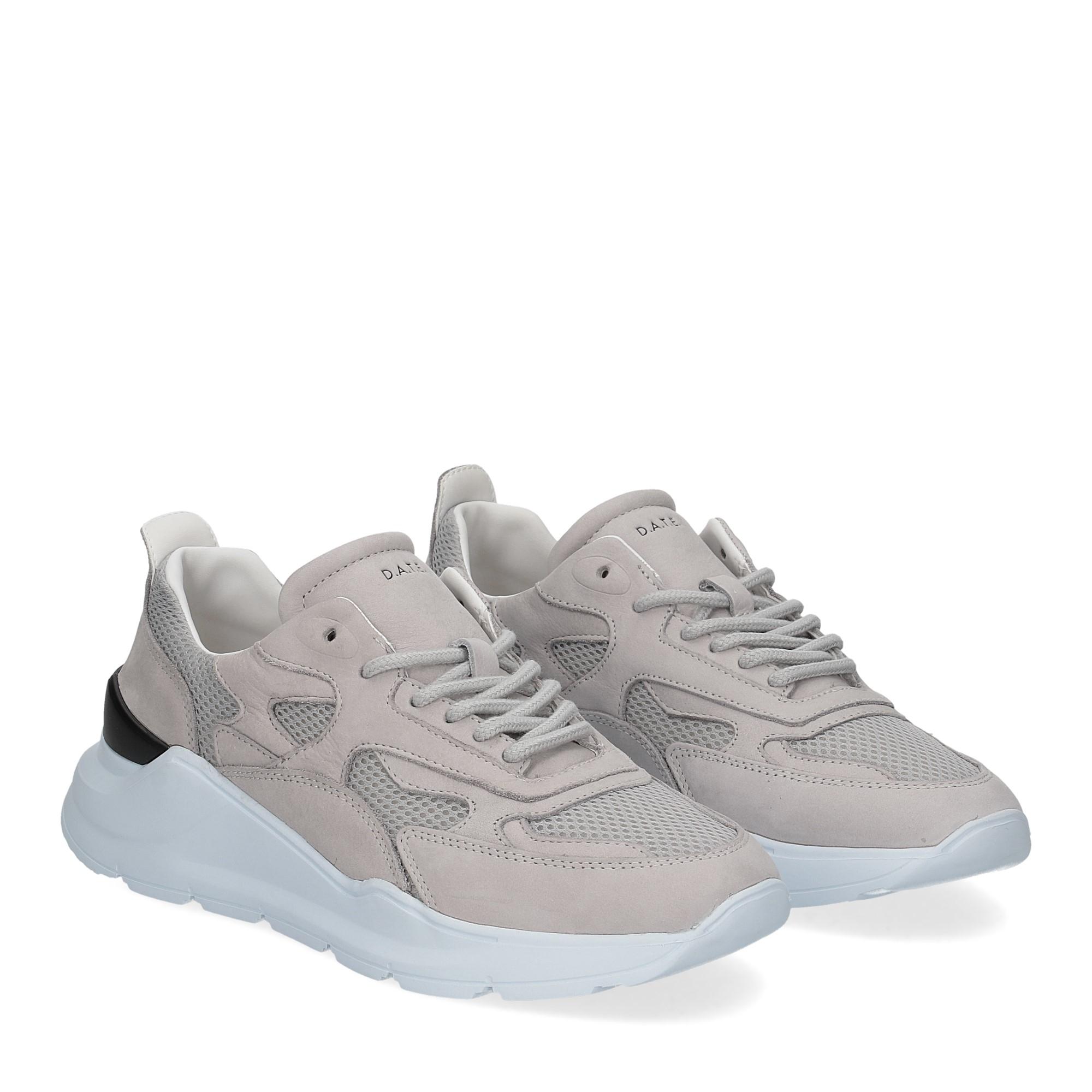 D.a.t.e. Fuga sneaker nabuk gray