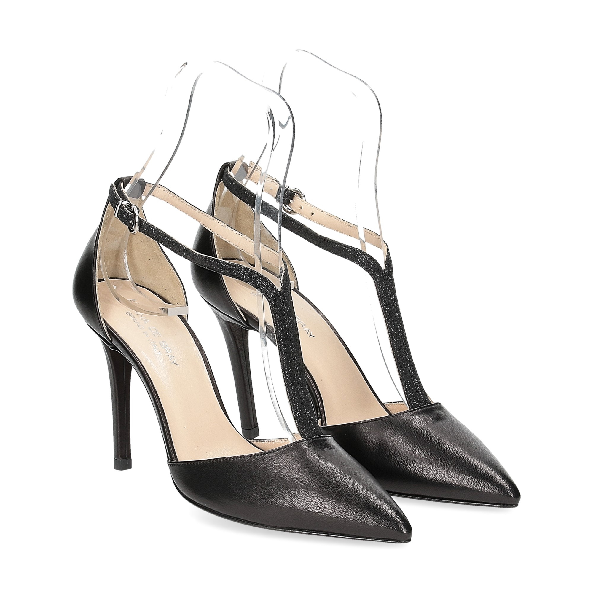 Anna De Bray sandaliera nera