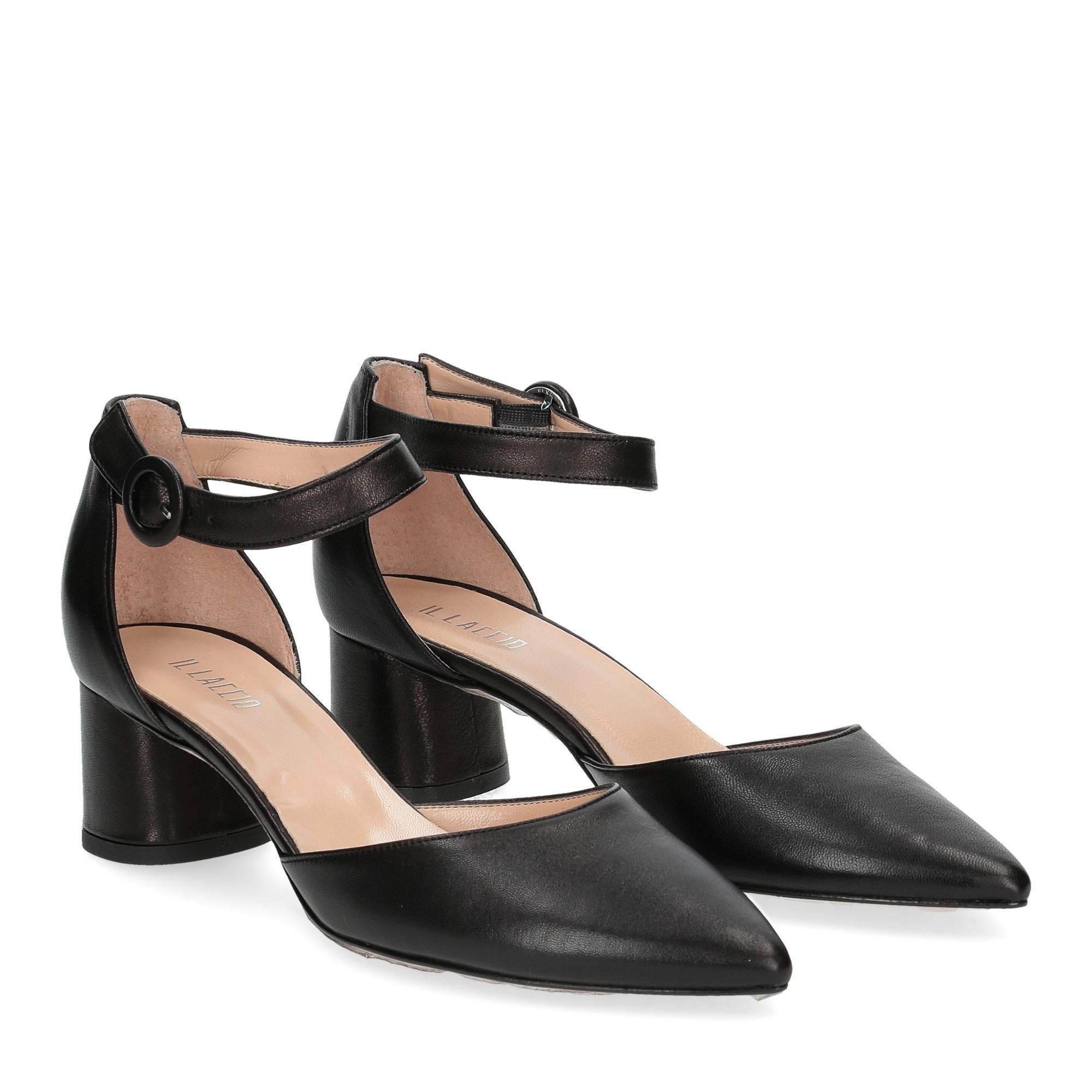 Il Laccio sandaliera pelle nera