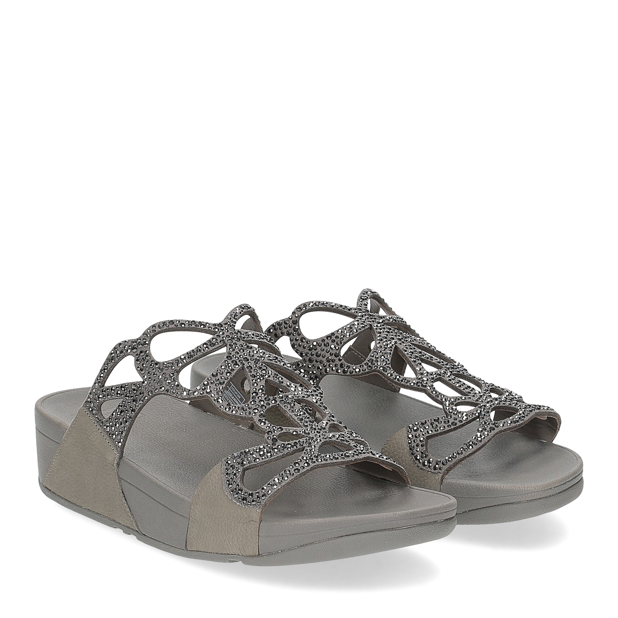Fitflop Bumble Crystal slide pewter