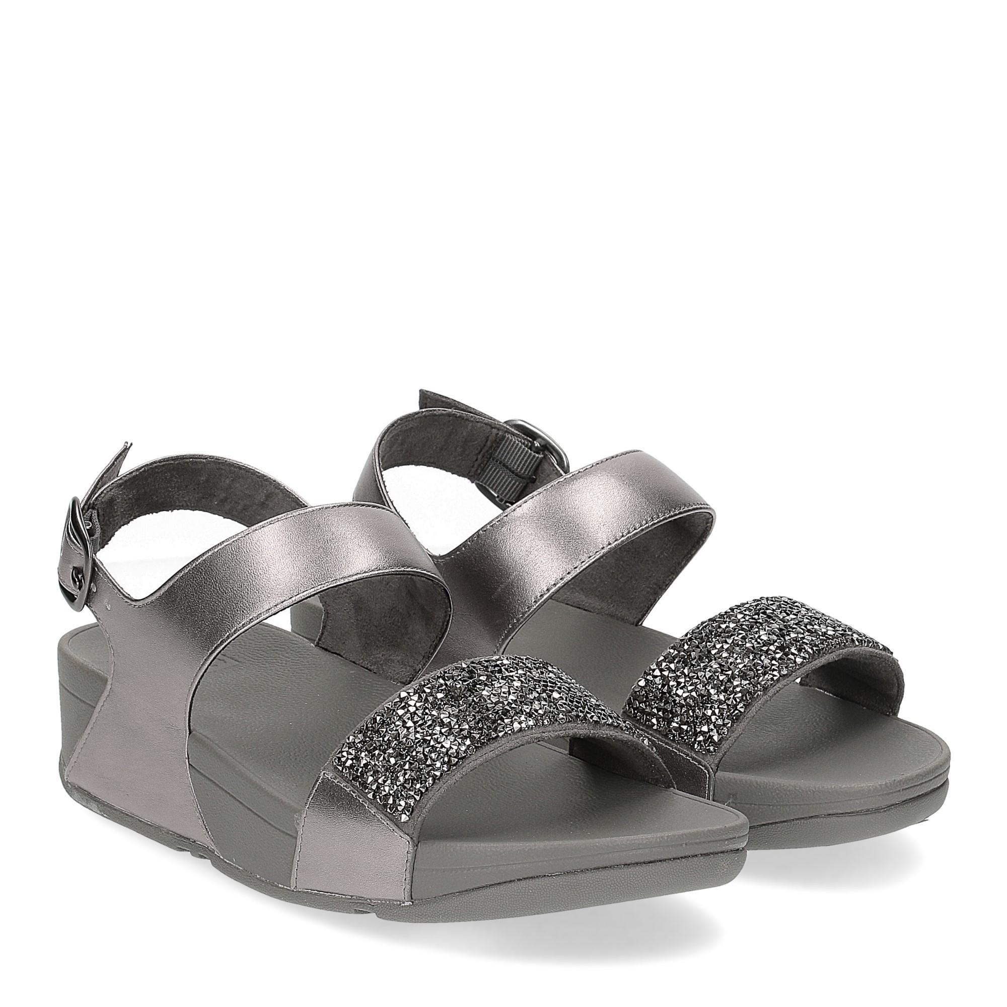 Fitflop Sparklie Crystal Sandal pewter
