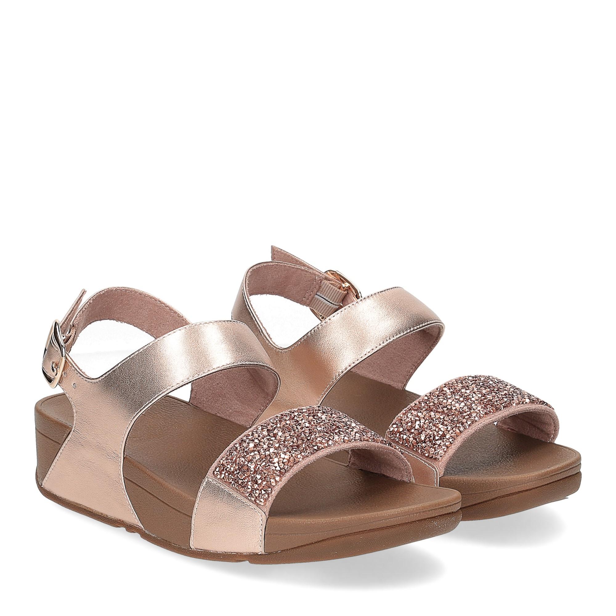 Fitflop Sparklie Crystal Sandal rose gold