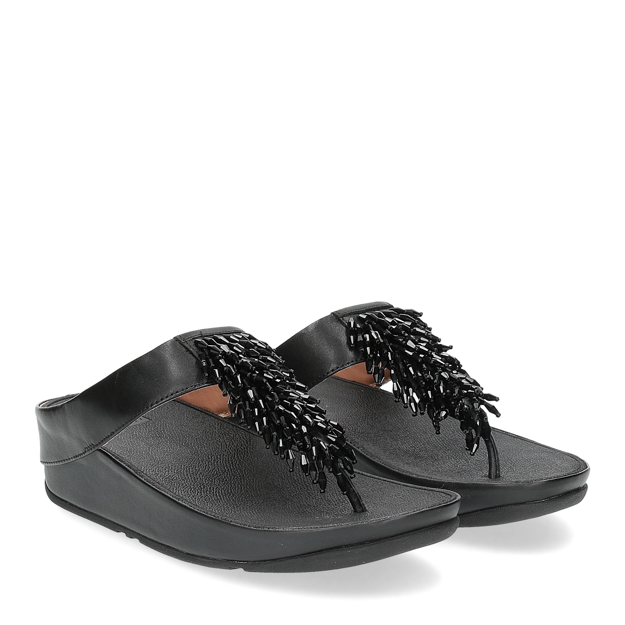 Fitflop Rumba toe thong sandal black