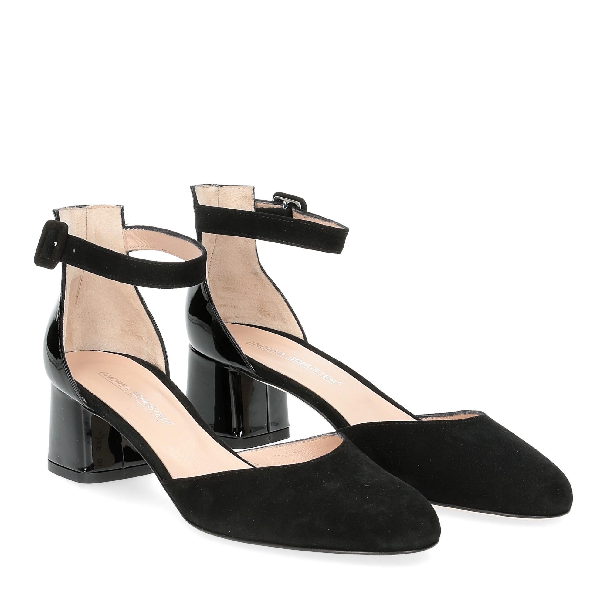 Andrea schuster sandaliera camoscio nero