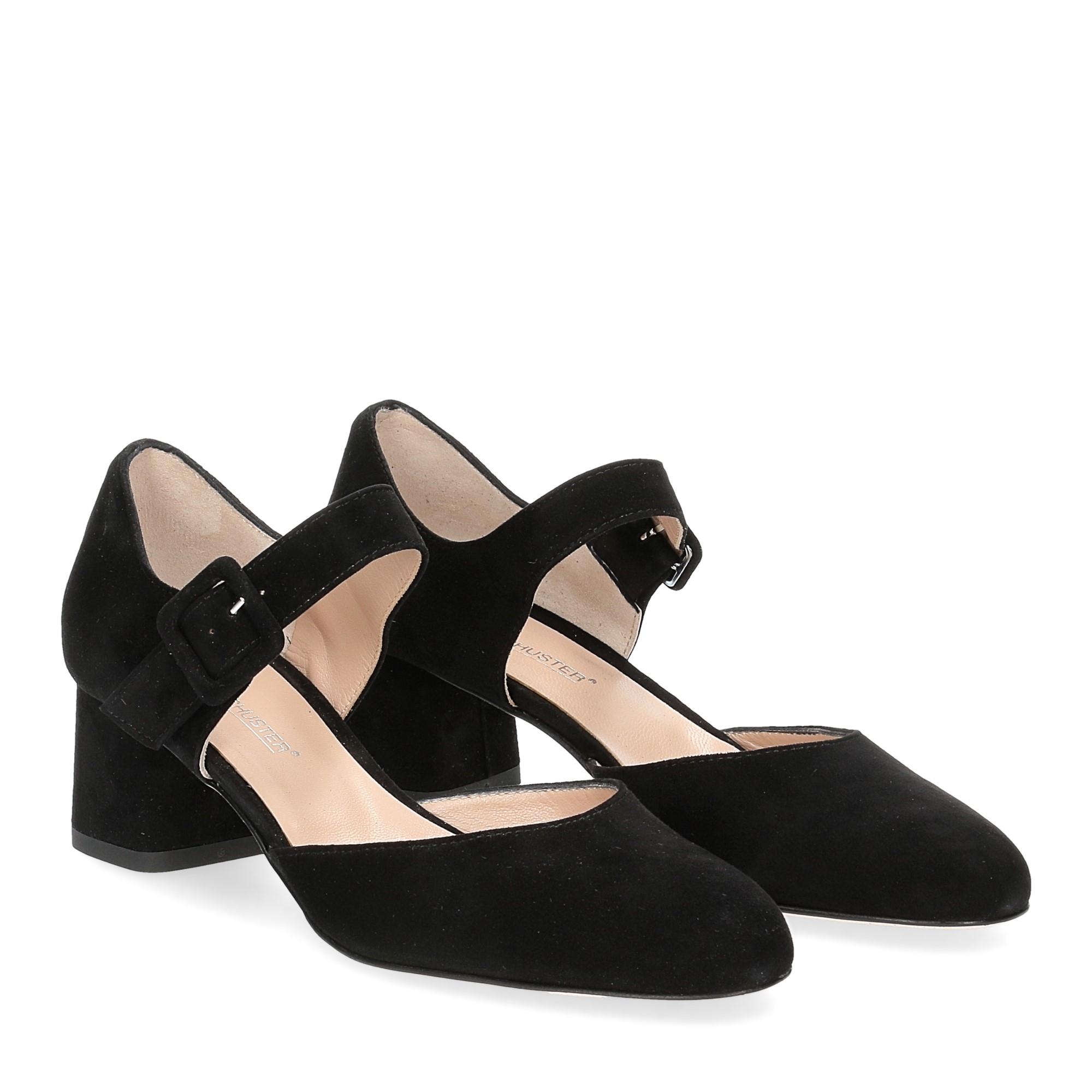 Andrea schuster sandaliera camoscio nero 5cm