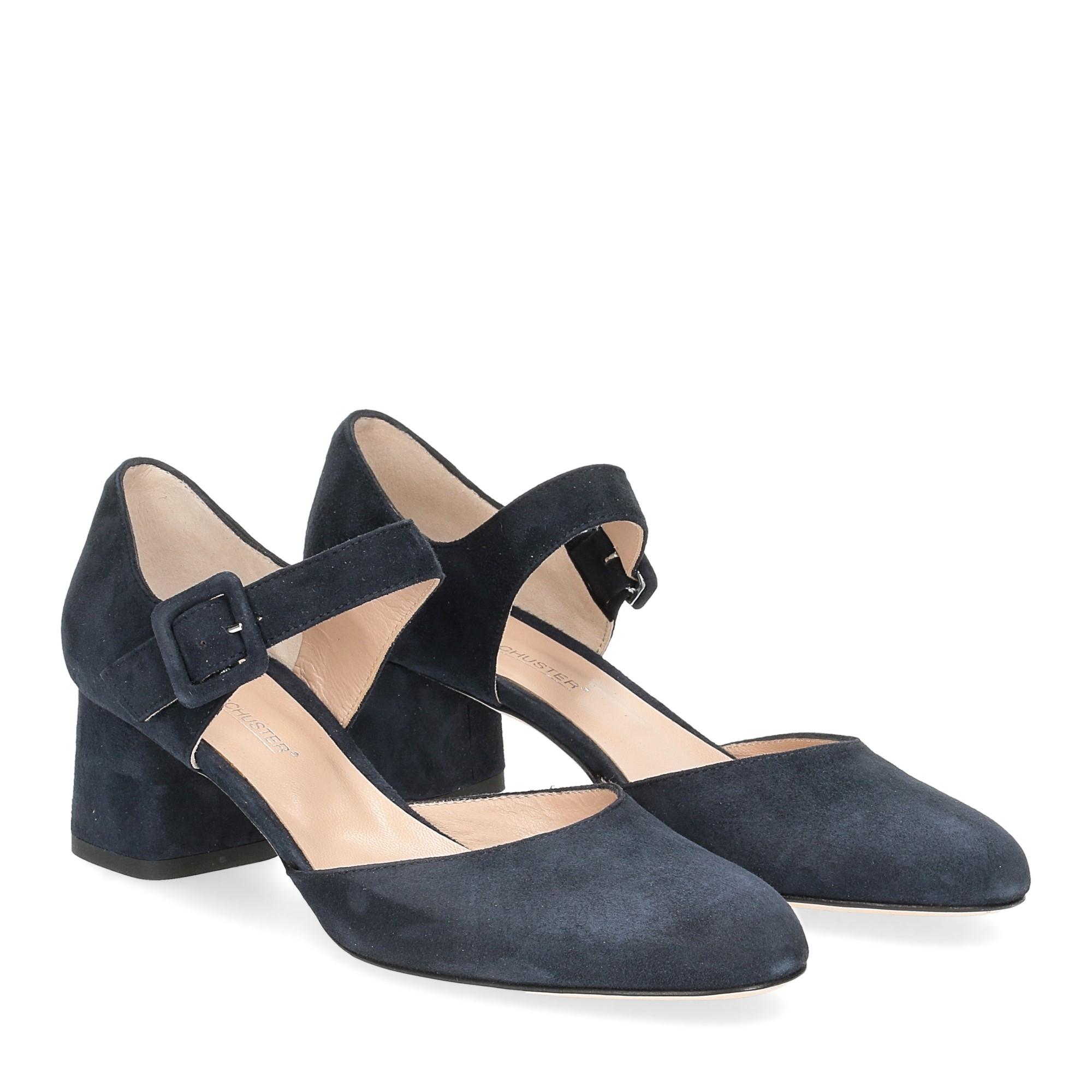 Andrea schuster sandaliera camoscio blu 5cm