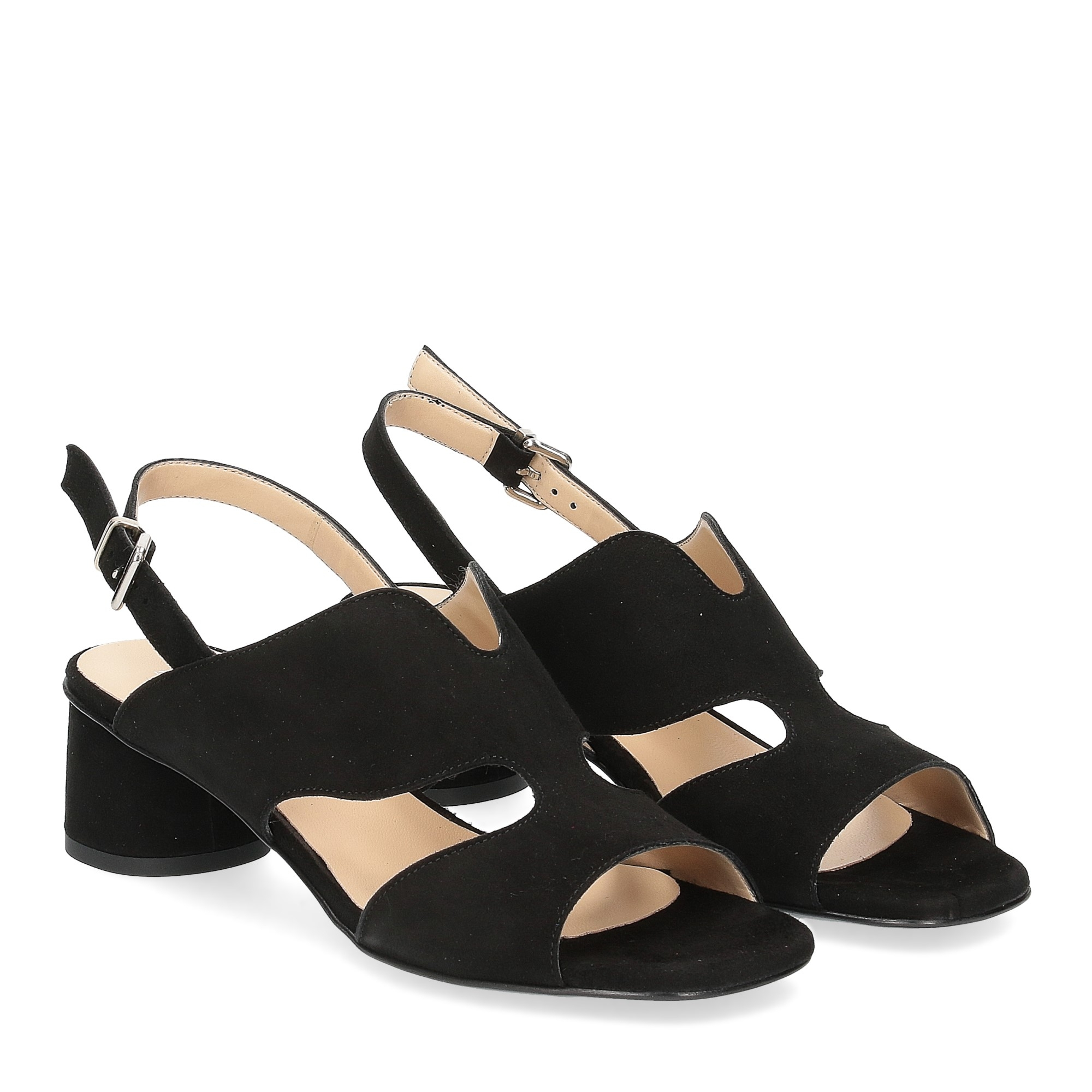 Andrea Schuster sandalo camoscio nero