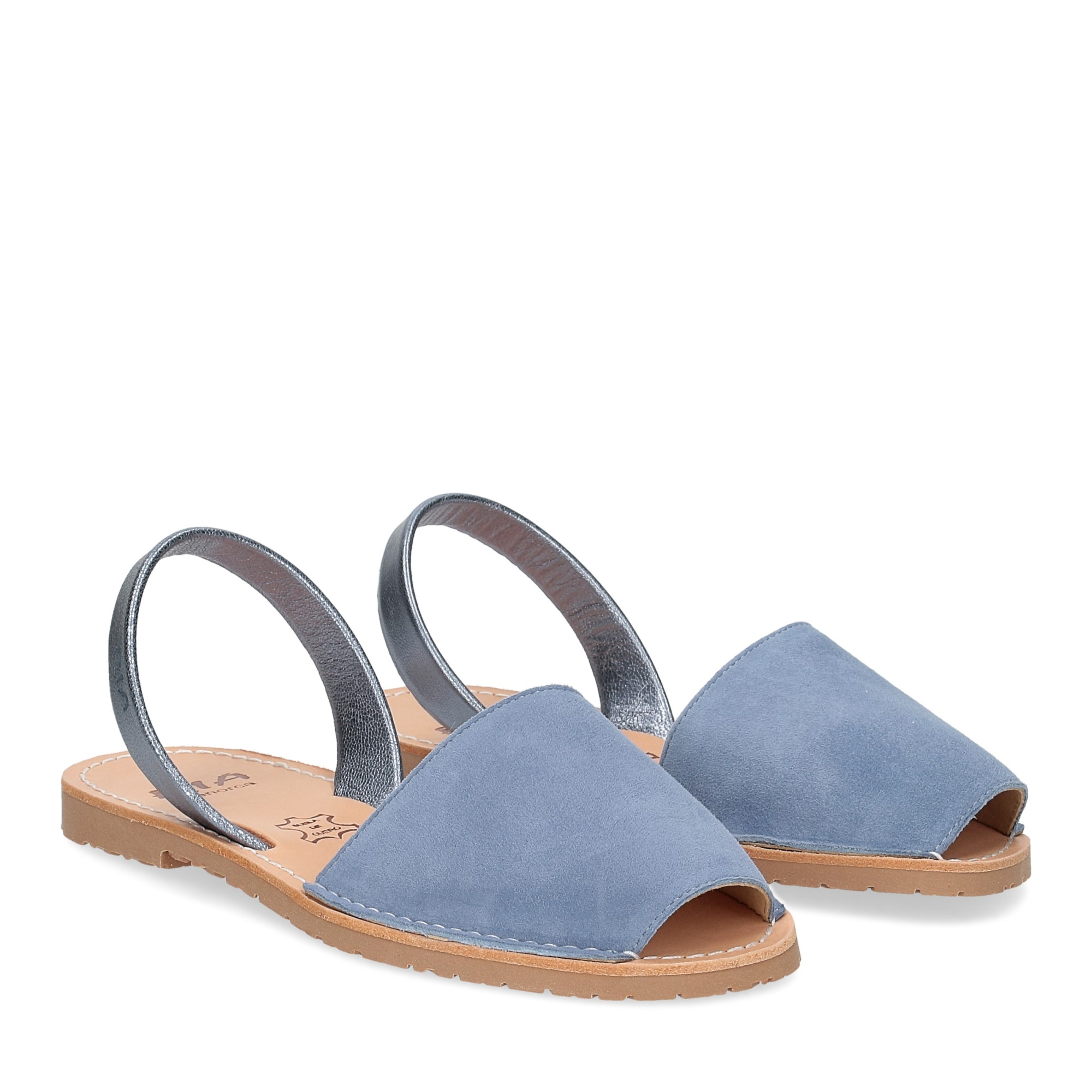 Ria Menorca sandalo minorchina camoscio azzurro