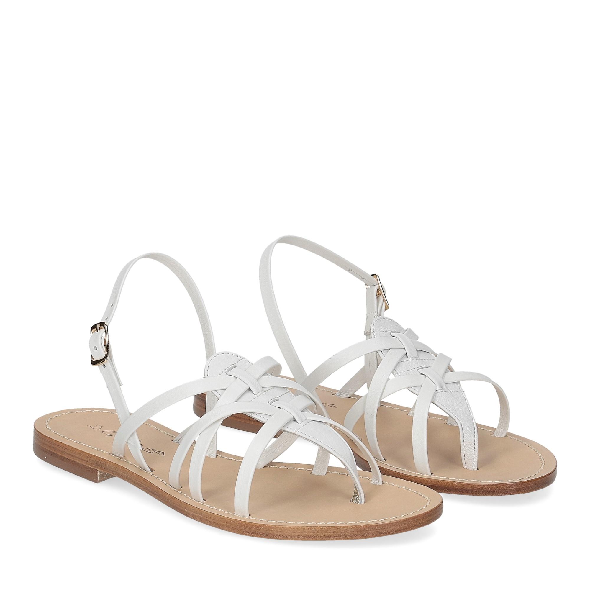 De Capri a Paris sandalo infradito pelle bianca
