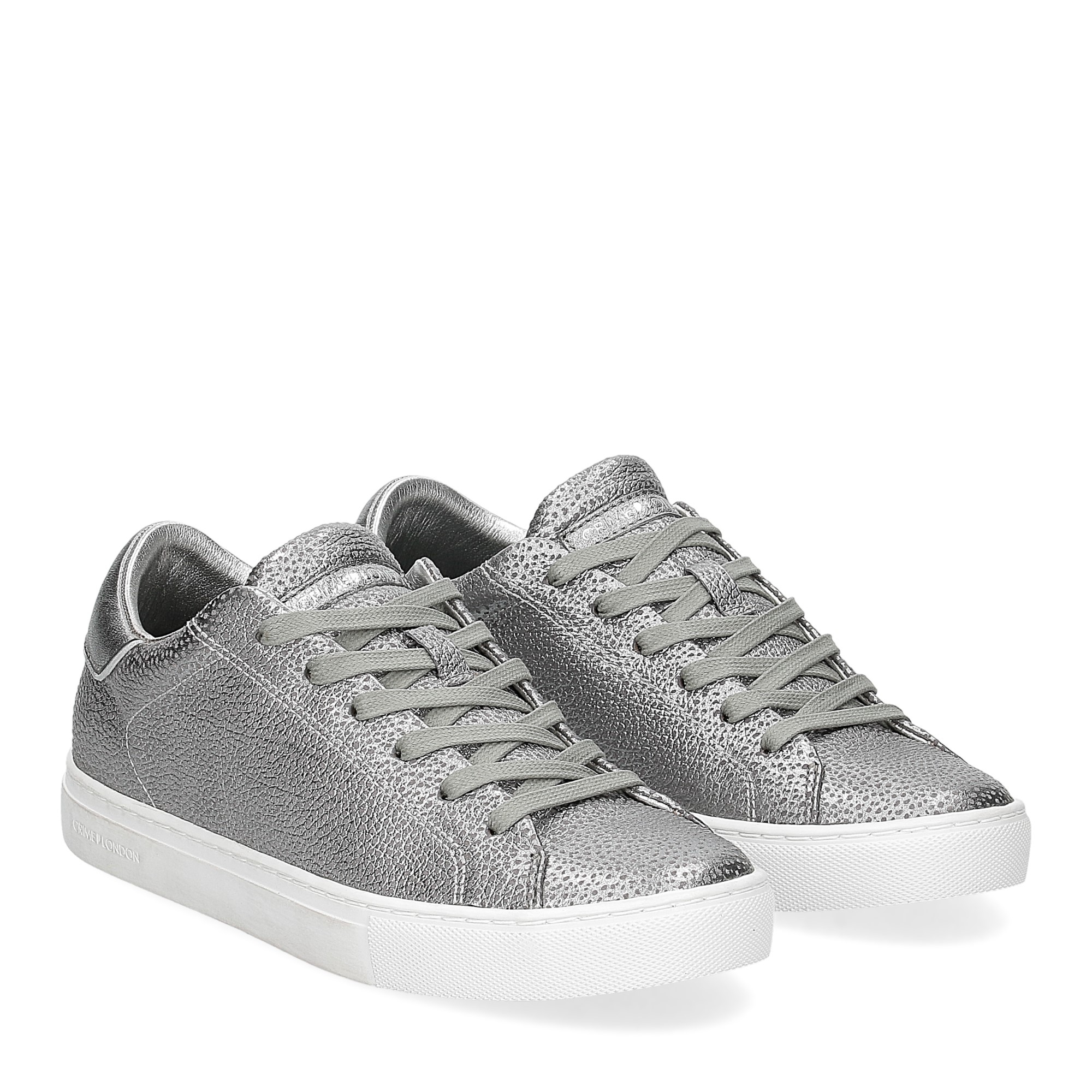 Crime London Beat sneaker argento