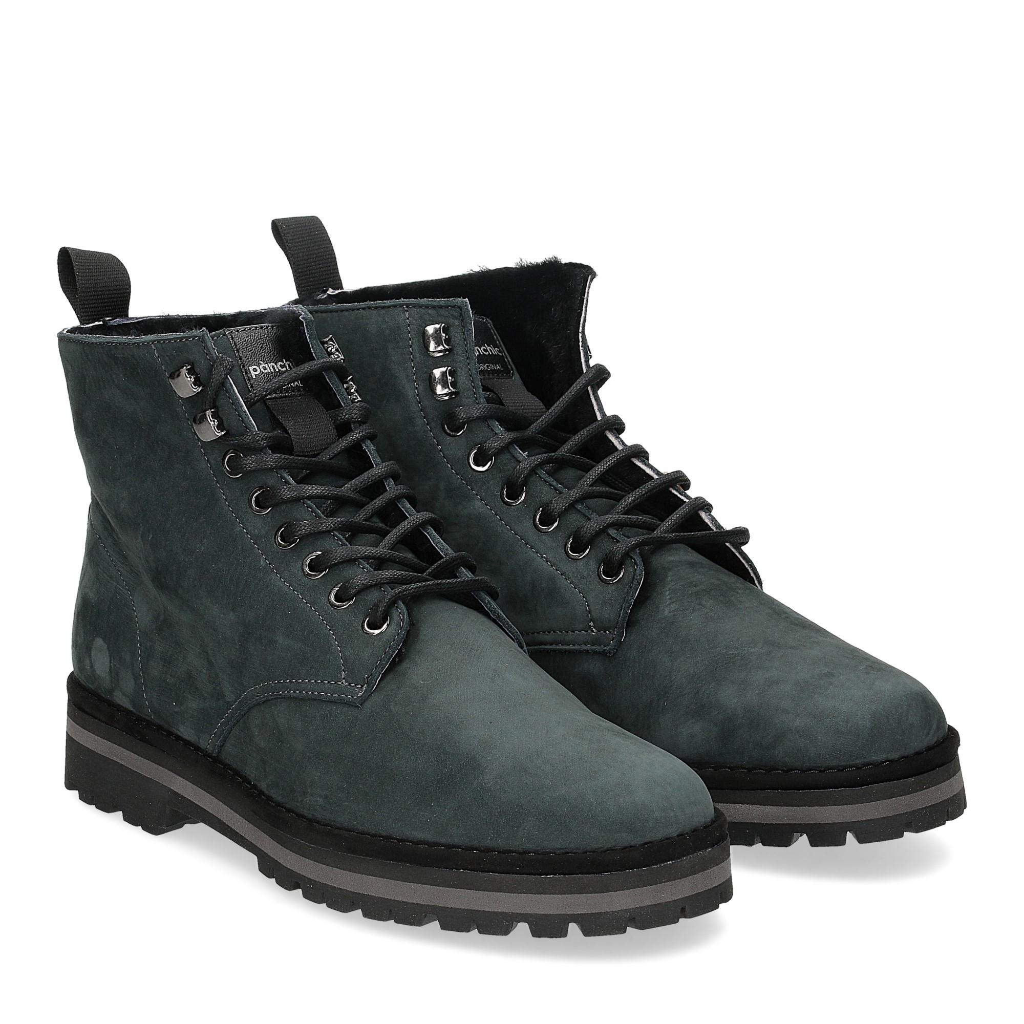Panchic Ankle boot nubuk lining shearling deep