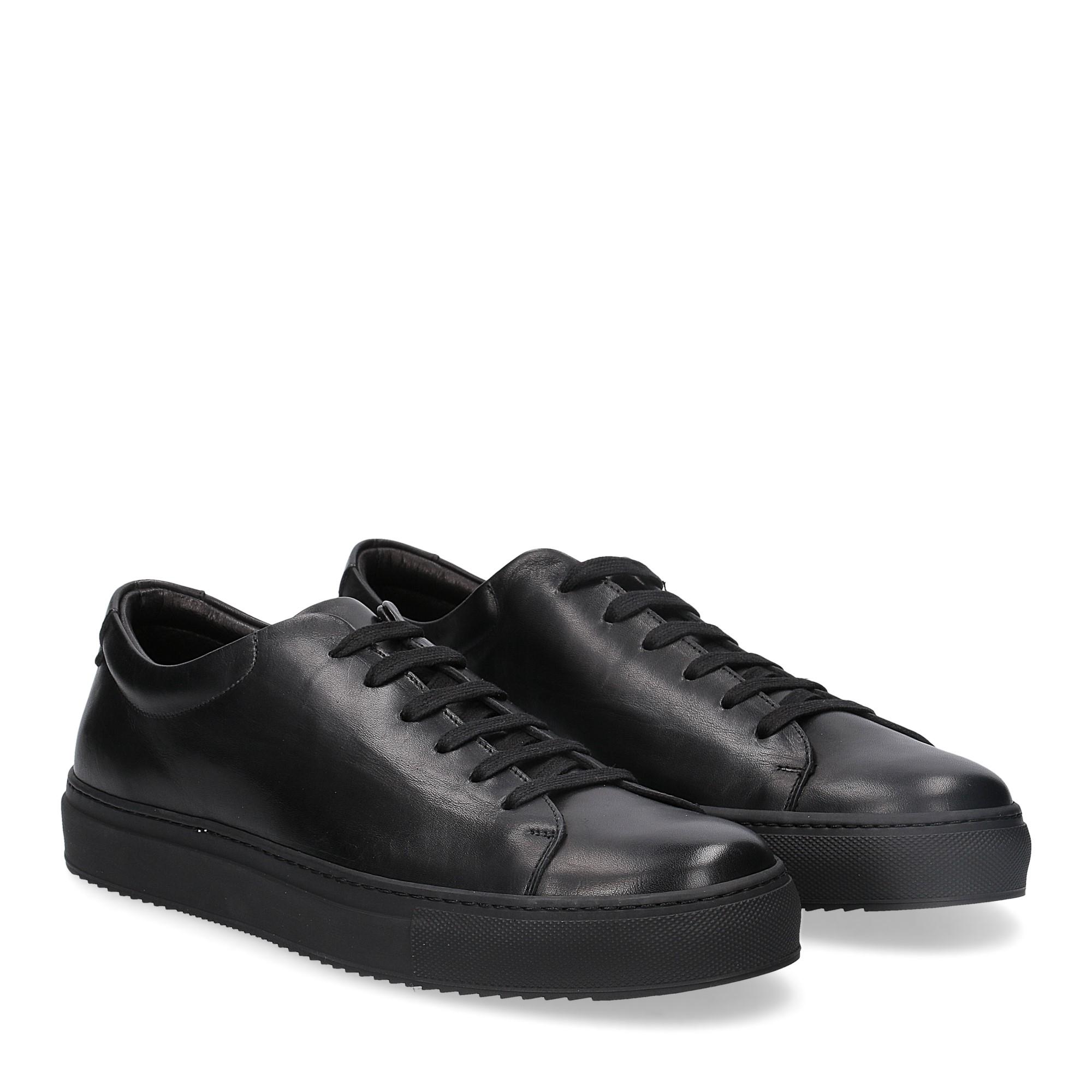 Griffi's sneaker 732 pelle nera