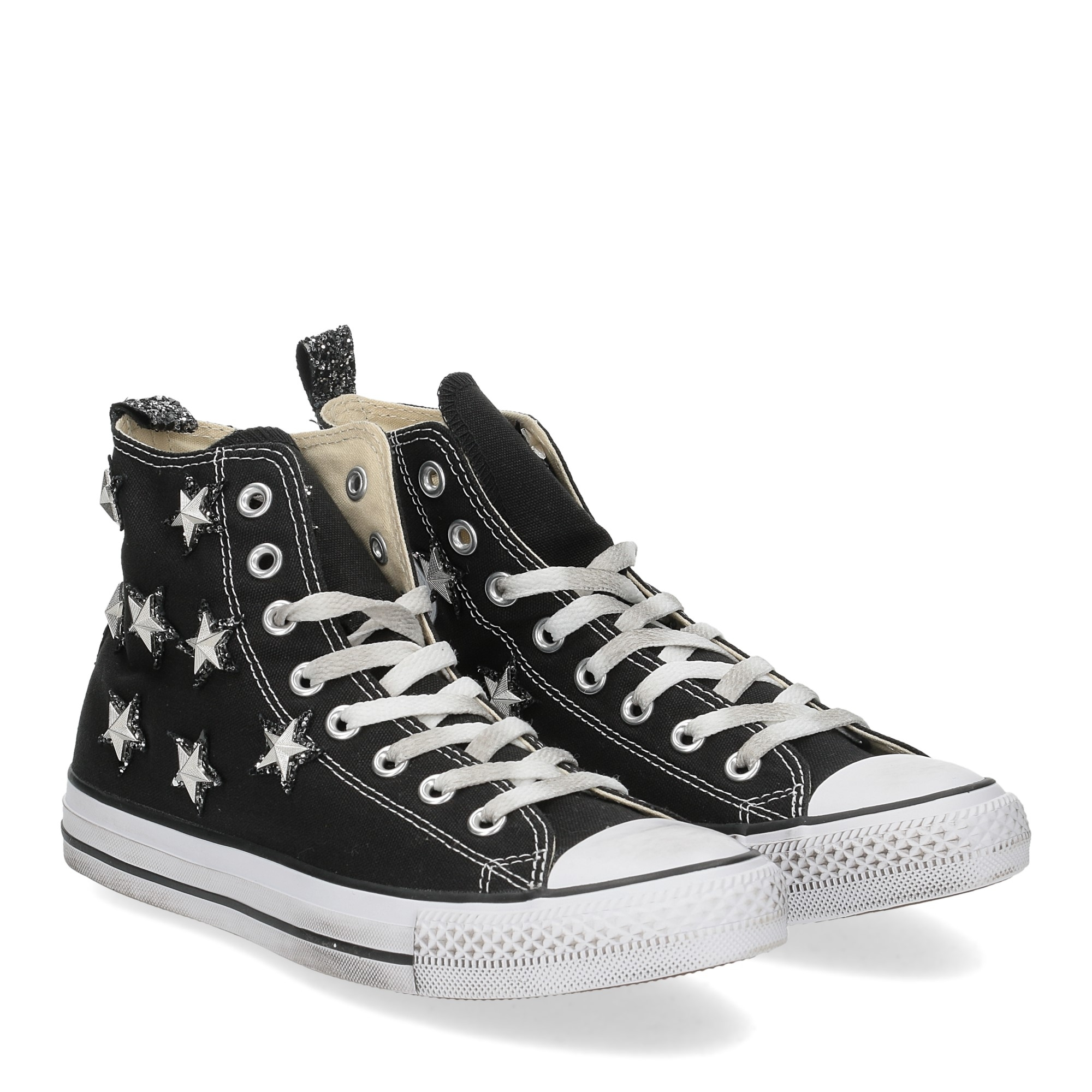 Converse All Star Hi Canvas Limited Edition Black silver Star
