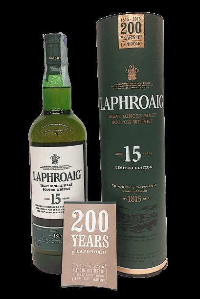 Whisky Laphroaig 15 anni ed. limitata 200° anniversario -Isola di Islay – Scozia
