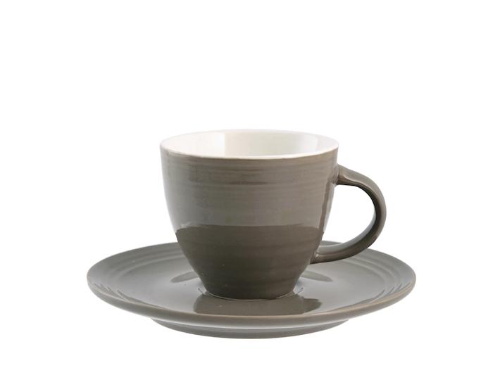 6 tazze caffè con piattino in bone china