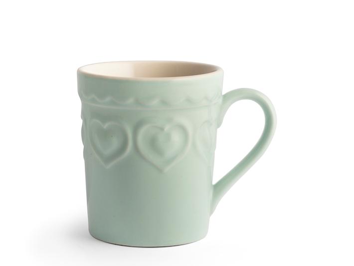 Tazza mug stoneware fairylove acquamarina bianca