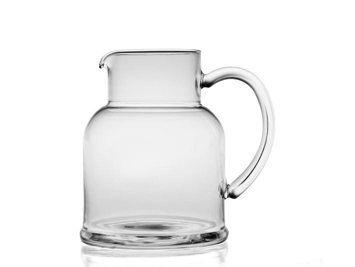 Brocca in vetro con manico 1,3lt