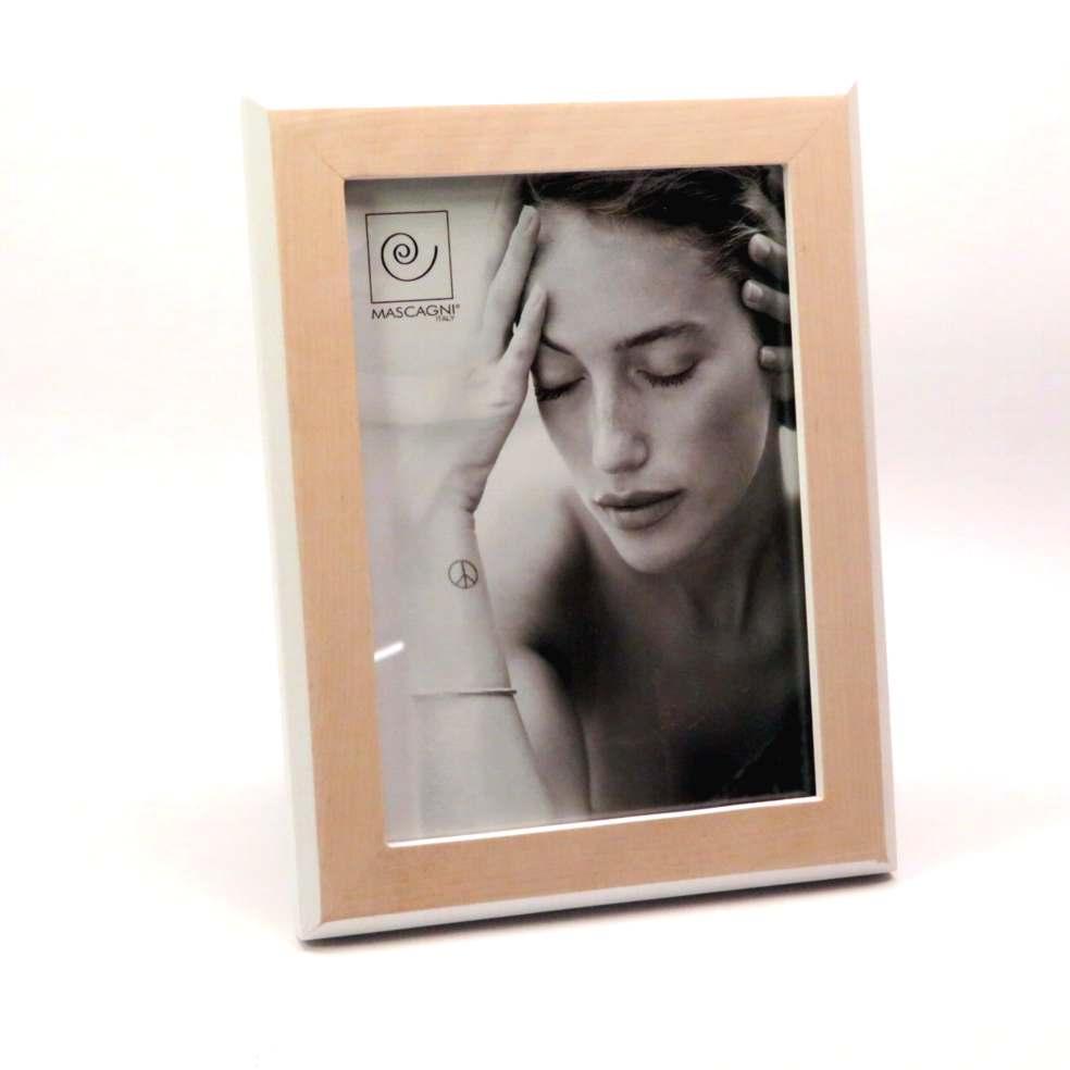 Cornice in legno bordo bianco 15x20