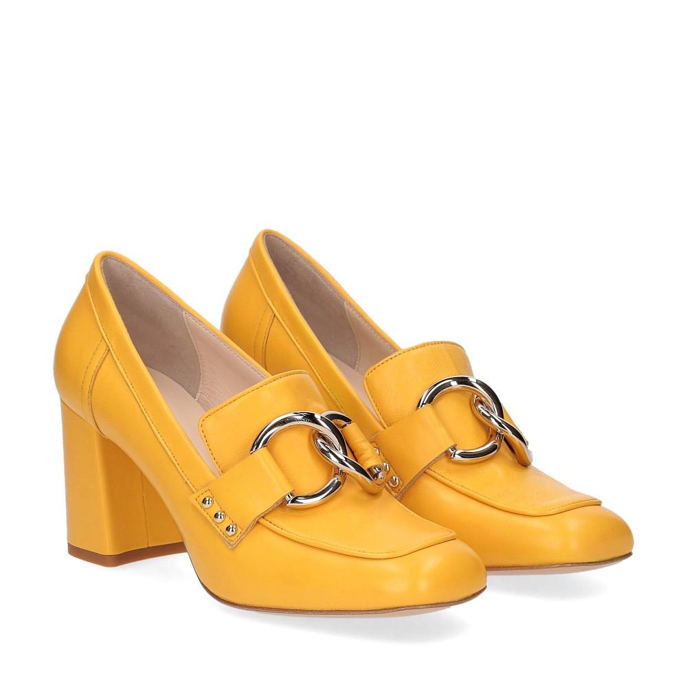 Anna De Bray mocassino accessorio vitello giallo