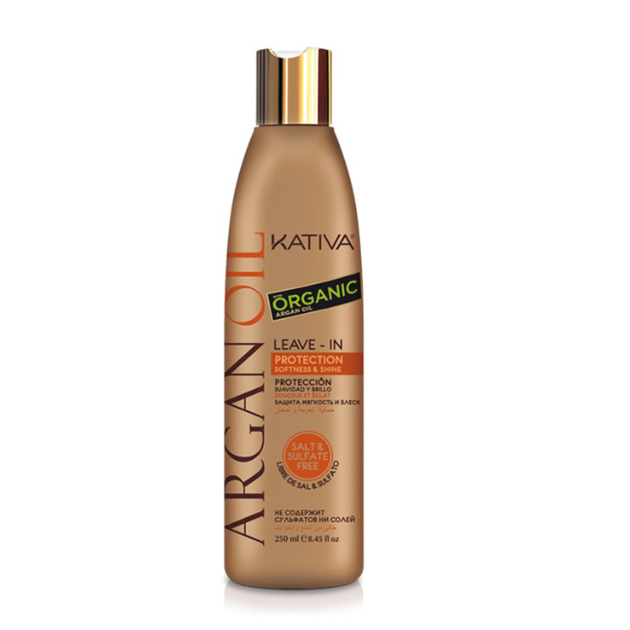 Kativa Argan Oil Leave-In Combing Cream Protection Softness & Shine 250ml