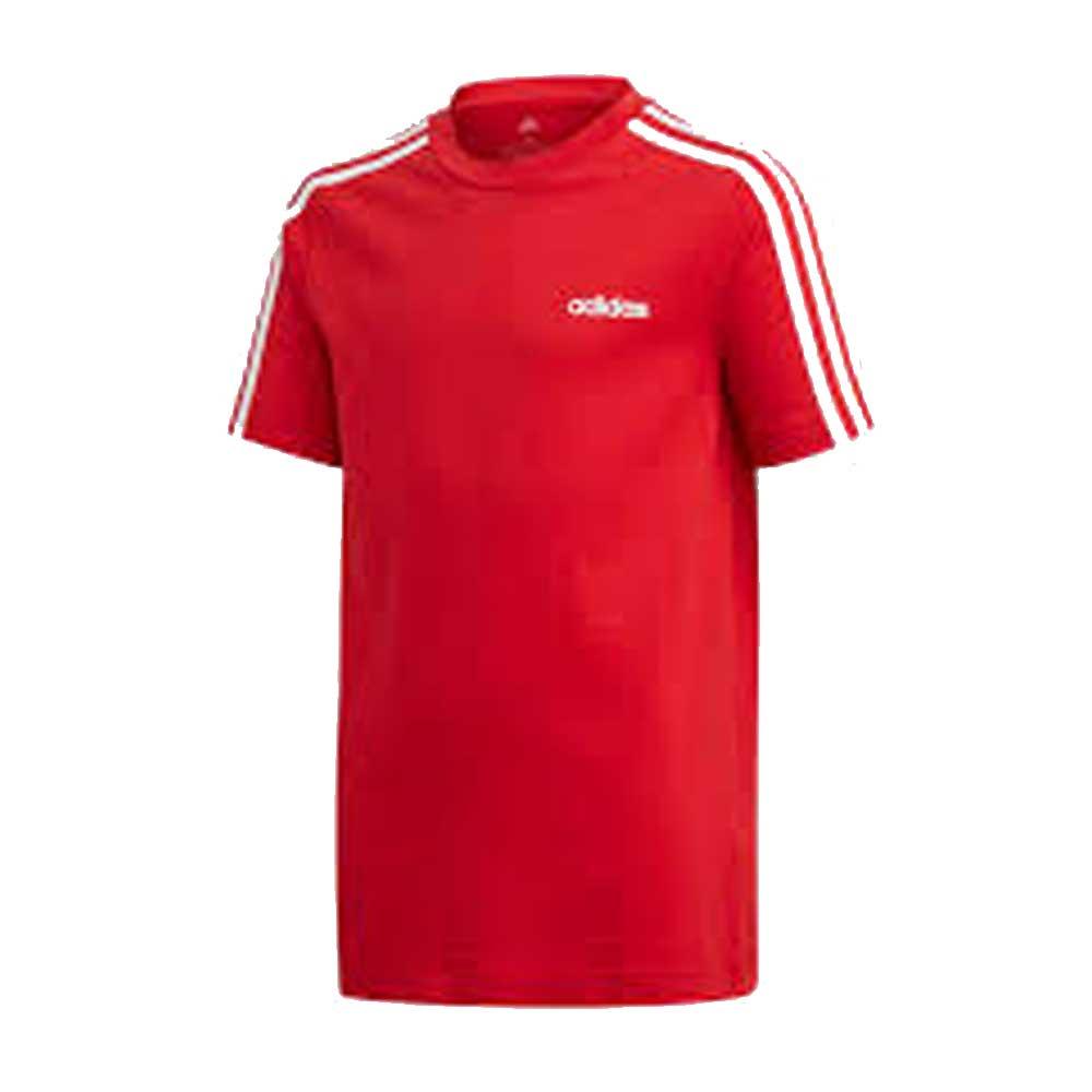 Adidas T Shirt 3 Stripes Red Junior