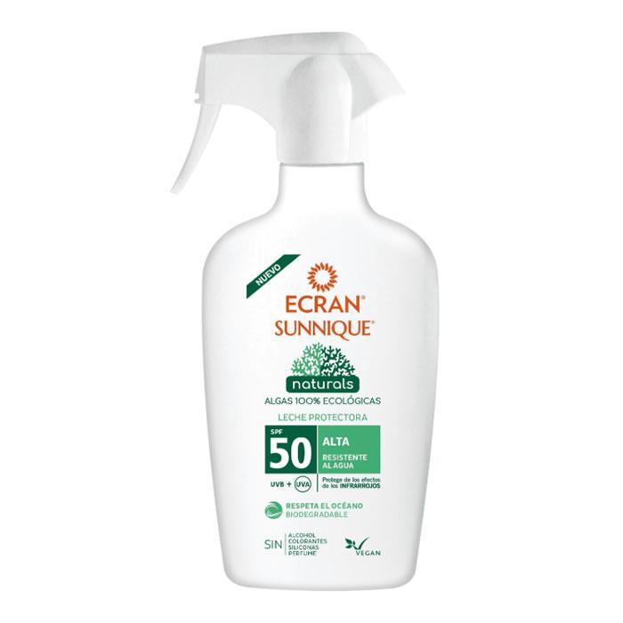 Ecran Sunnique Naturals Protective Milk Spf50 Spray 300ml