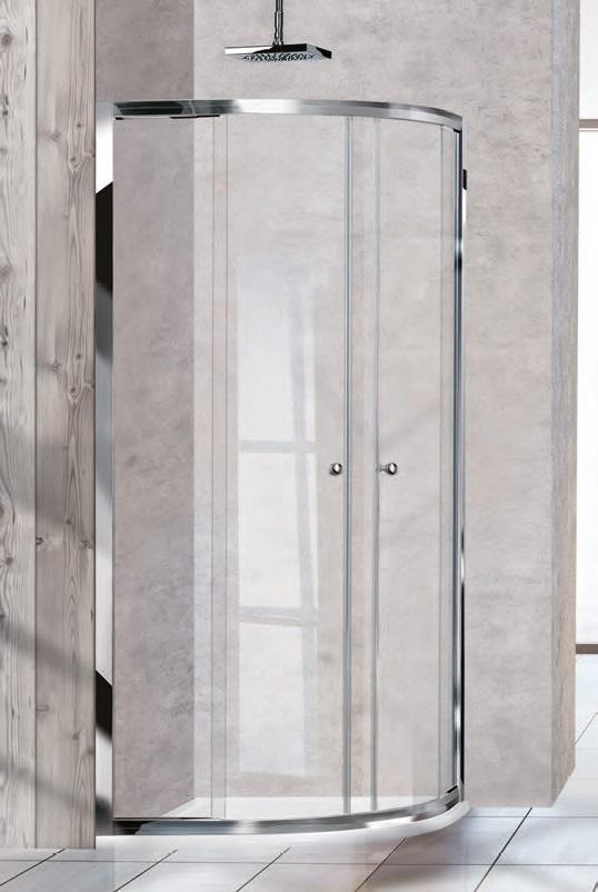 Box doccia stondato scorrevole 80 x 80