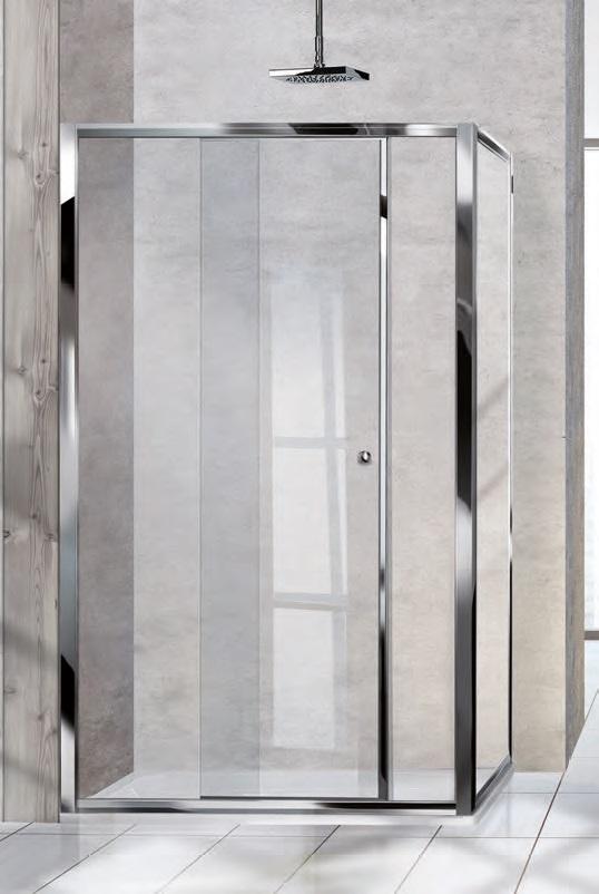 Porta doccia scorrevole cm. 140
