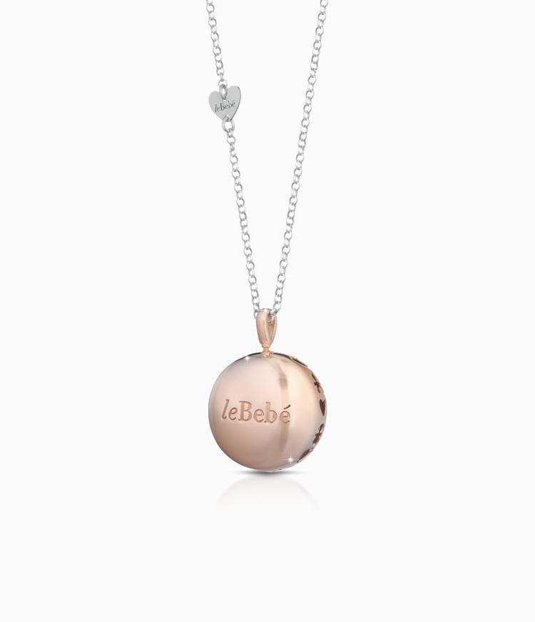 Ciondolo Luna argento placcato oro rosa