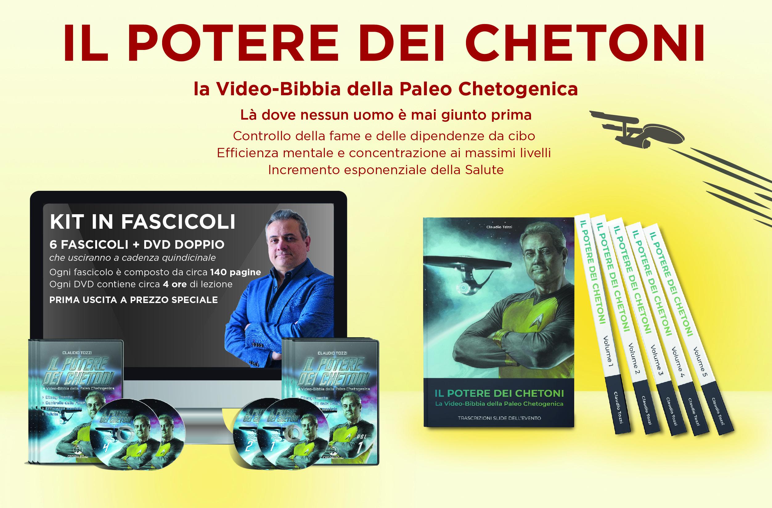 Il Potere dei Chetoni: là dove nessun uomo è mai giunto prima. 12 DVD + Libro - C. Tozzi -