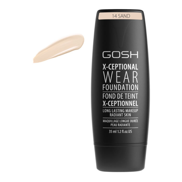Gosh X-Ceptional Wear Foundation Long Lasting Makeup 14 Sand 35ml