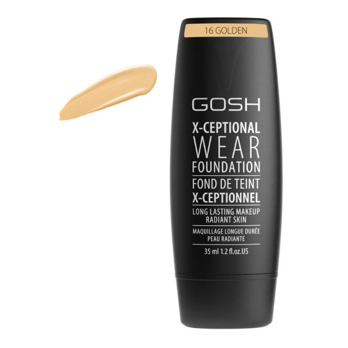 Gosh X-Ceptional Wear Foundation Long Lasting Makeup 16 Golden 35ml