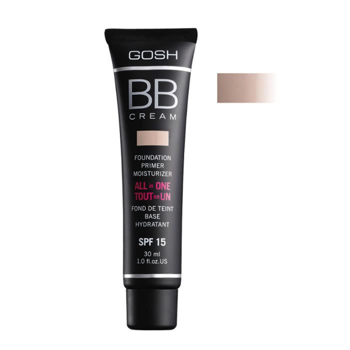 Gosh BB Cream Foundation Primer Moisturizer 02 Beige 30ml
