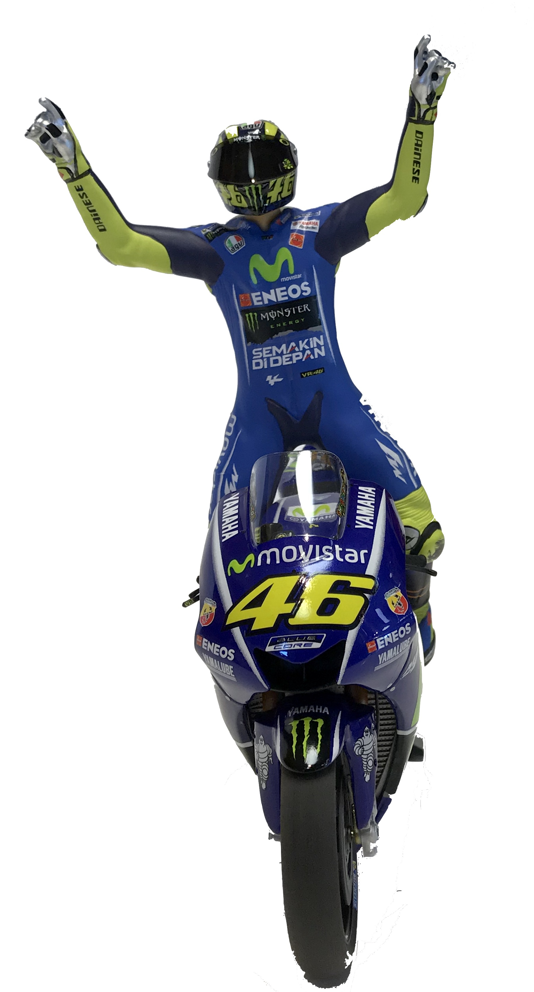 Valentino Rossi Movistar Yamaha Winner Moto GP Assen 2017 Limited Edition 1500 Pcs Scala 1/12