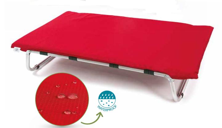 Brandina per cani lettoflex waterproof ROSSO Leopet 75x115cm