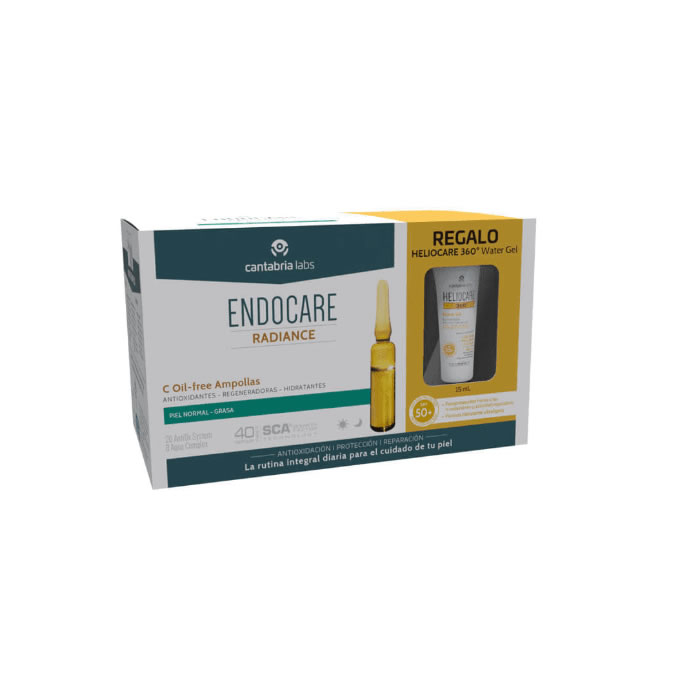 Endocare Radiance C Oil Free 30 Fiale + Gel D'acqua 360