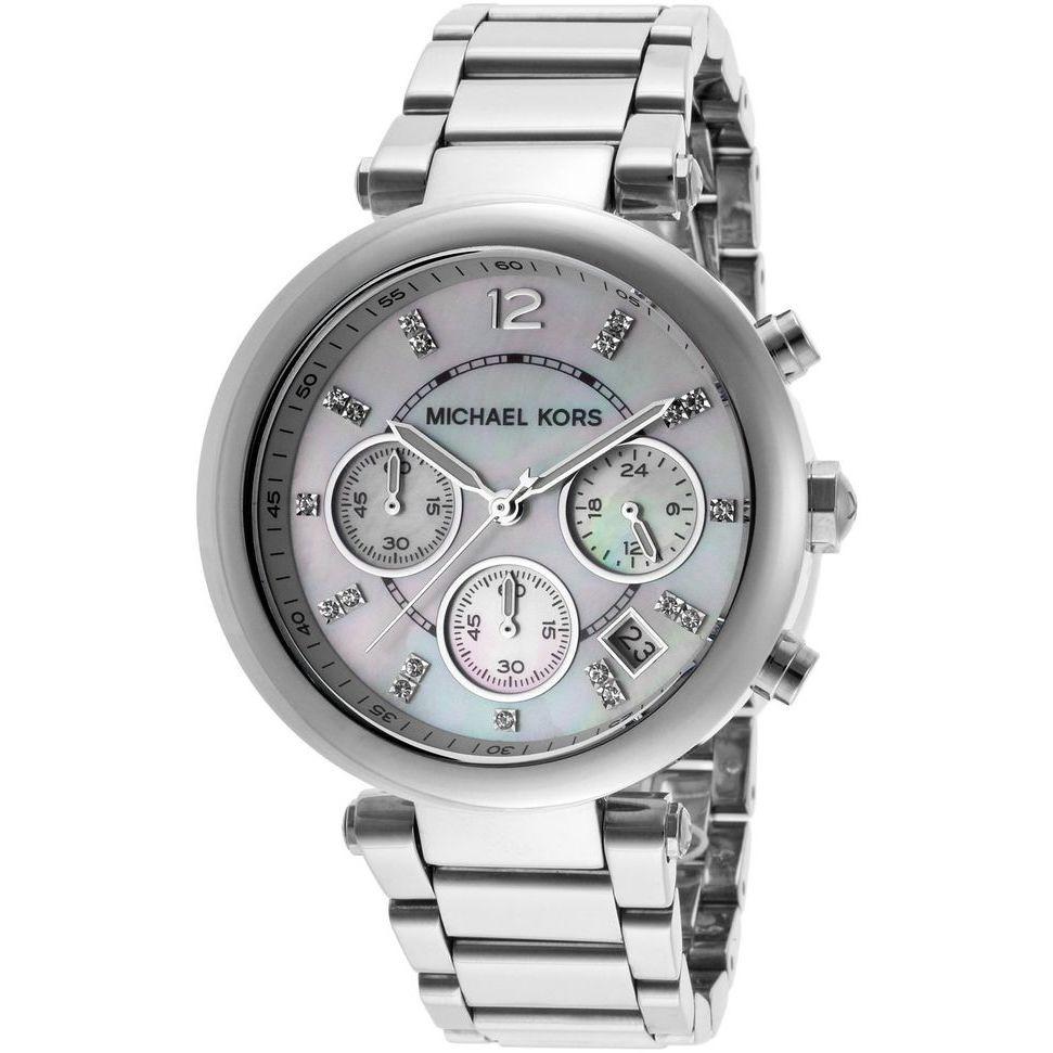 Orologio Michael Kors, Donna Cronografo Collezione Parker Silver