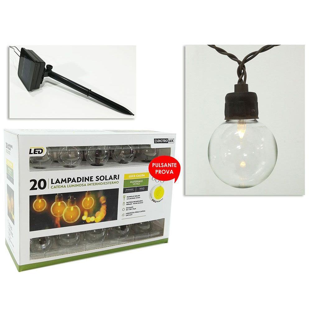 General Trade Catena 20 Lampadine Solari Luce Calda