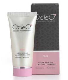 Ocleò - Crema anti-age con oro e collagene 50ml