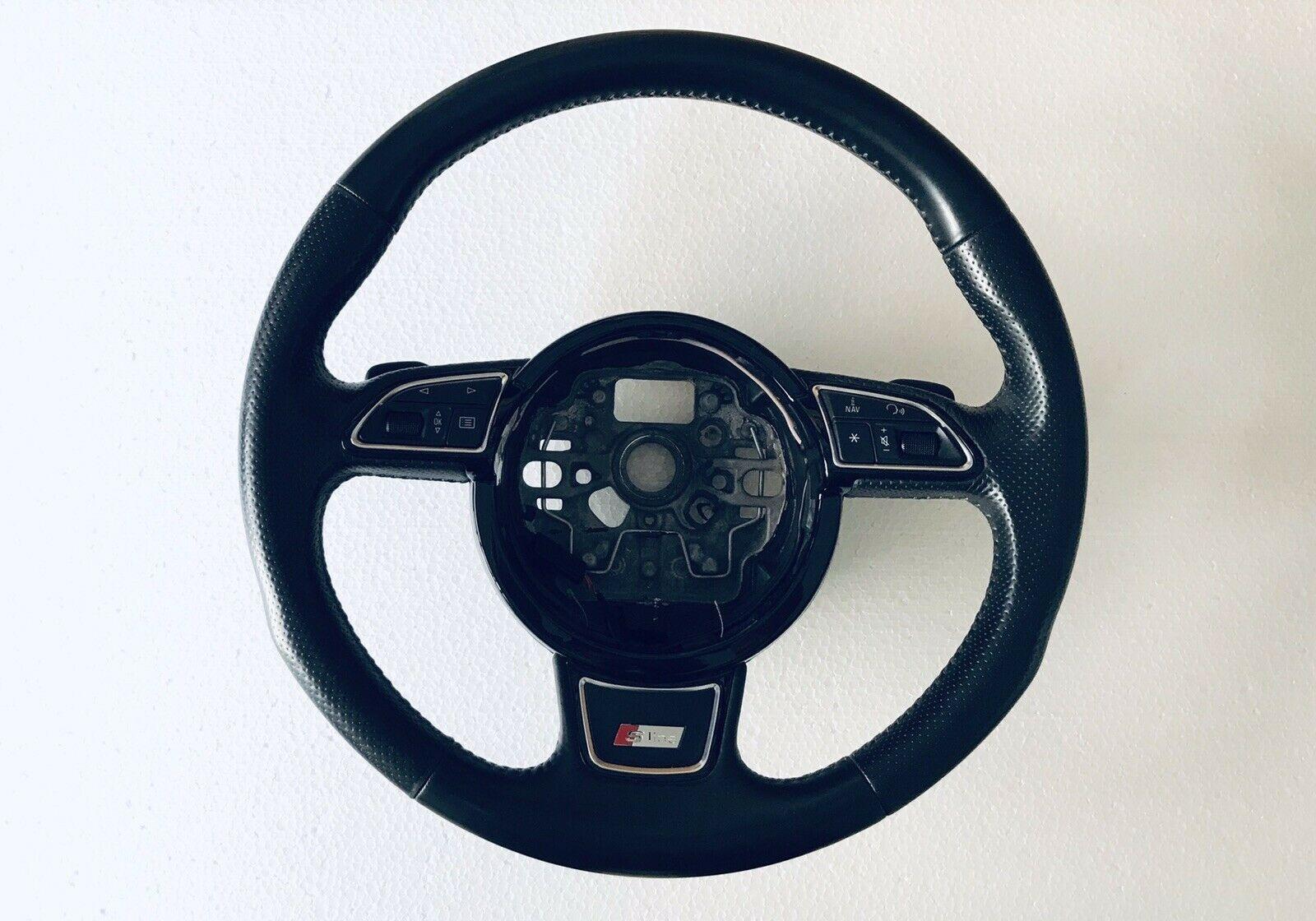 Volante Sterzo S Line Mult Funzioni Cambio Automatico In Pelle Audi A1 Anno 2011