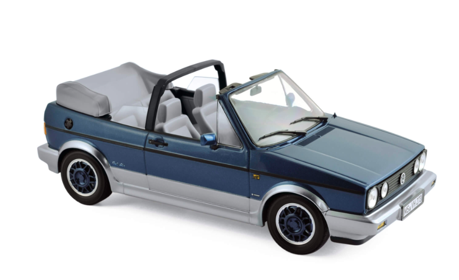 "Volkswagen Golf Cabriolet ""Bel Air"" 1992 Blue Metallic 1/18"