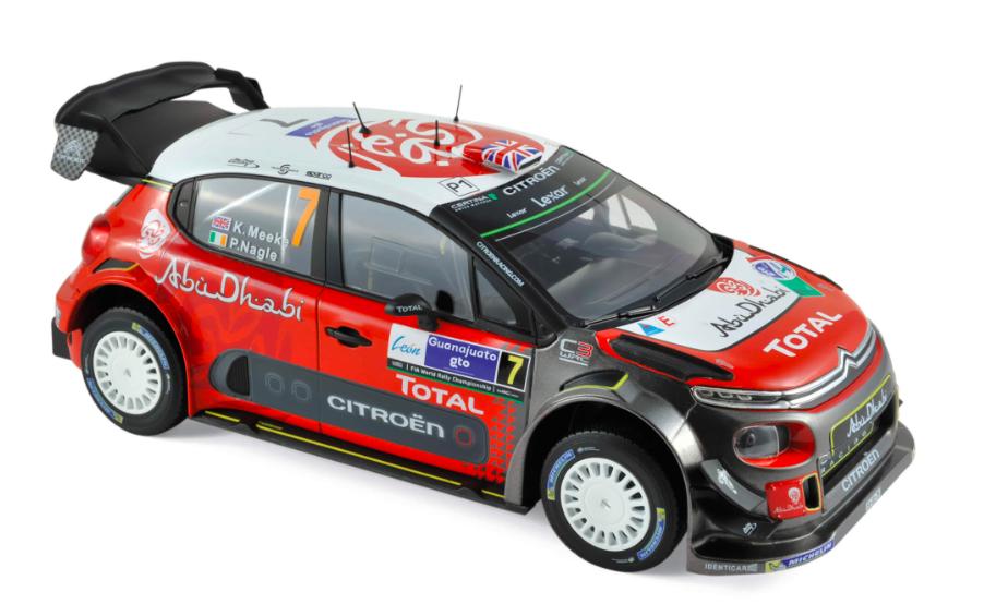 Citroën C3 WRC N°7 Winner Mexique 2017 K.Meeke / P.Nagle 1/18