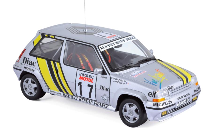 Renault Supercinq GT Turbo Tour de Corse 1989 Ragnotti / Thimonie 1/18