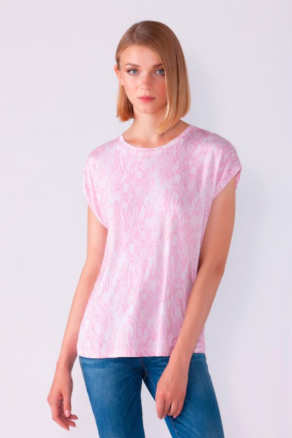 T-shirt pitone rosa