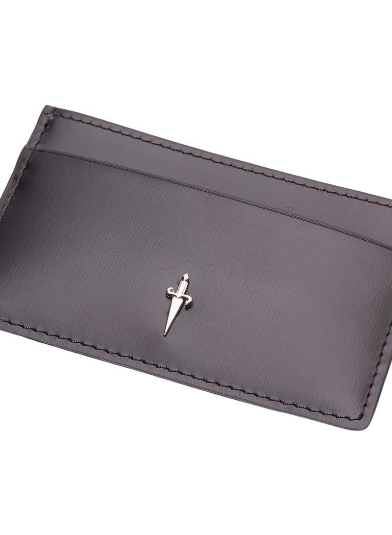 Mini porta carte di credito Cesare Paciotti, Pelle nera